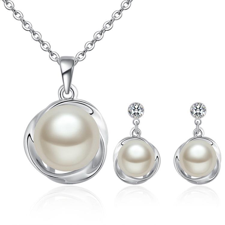 0be62799d Set náhrdelník a náušnice s perlou Swarovski elements   Šperky pre Vás