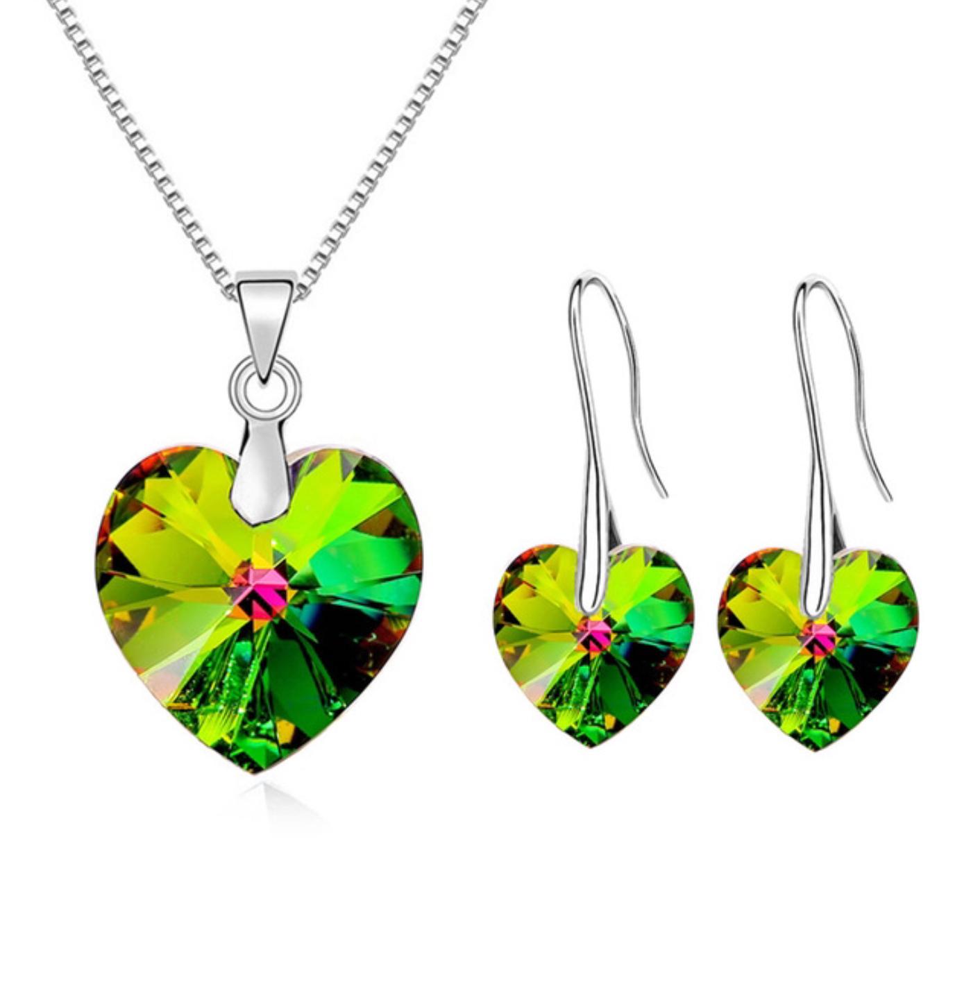110432a7f Set náhrdelník a náušnice srdce Swarovski elements VM   Šperky pre Vás