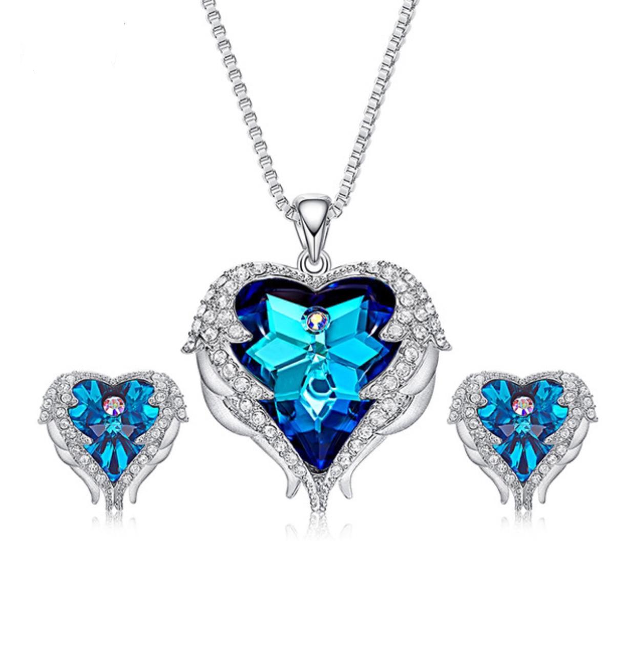 Set náhrdelník a náušnice kruh Swarovski elements fadd6f6a0e3