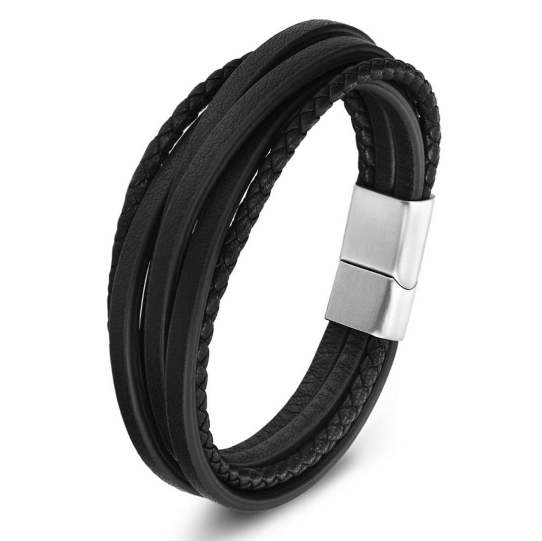 dff917ea4 Pánsky vintage kožený náramok Cool man čierny | Šperky pre Vás