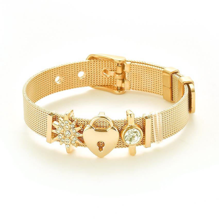 57974891b Charms remienkový náramok Lock zlatý | Šperky pre Vás