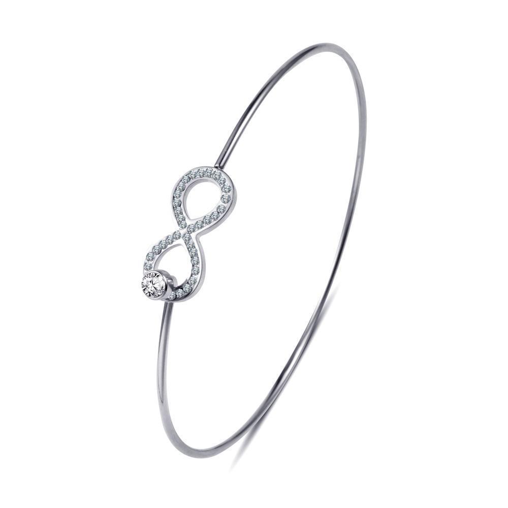 2c166af33 Náramok Nekonečno so zirkónmi strieborná | Šperky pre Vás