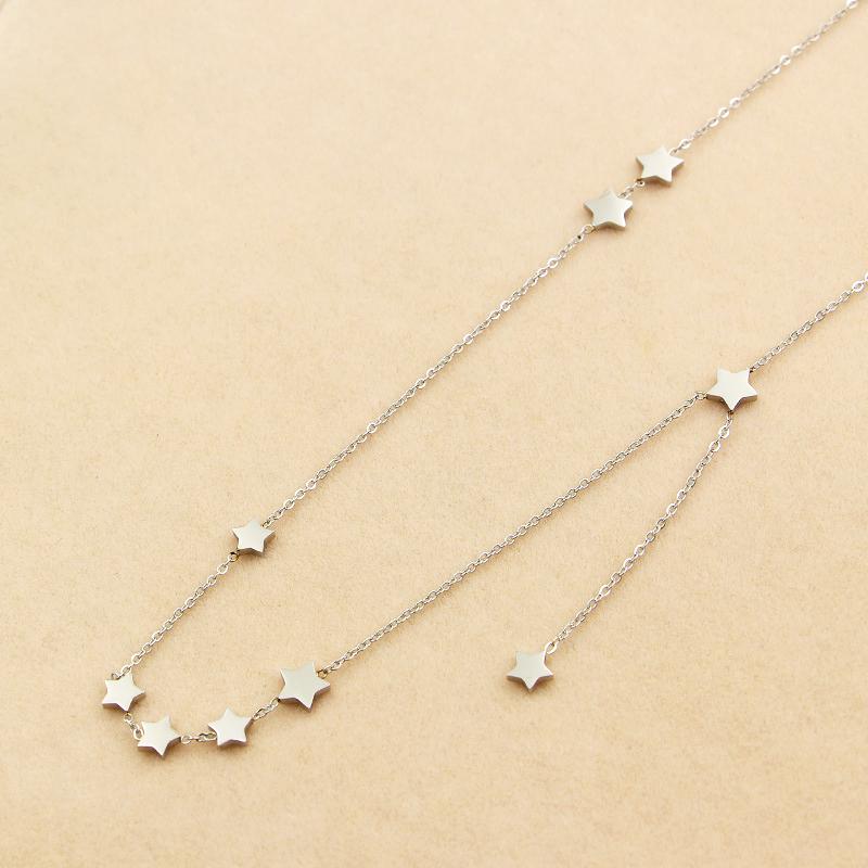e03dd97ee Náhrdelník s hviezdičkami strieborná | Šperky pre Vás