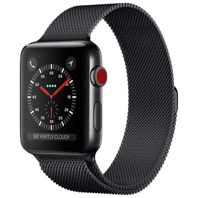 Apple watch oceľový remienok čierny (42/44mm)