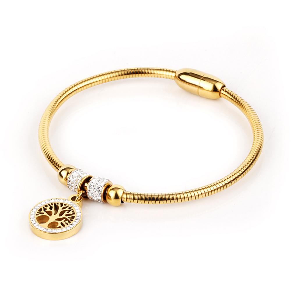 4f92c3727 Náramok Strom života zirkóny zlatá | Šperky pre Vás