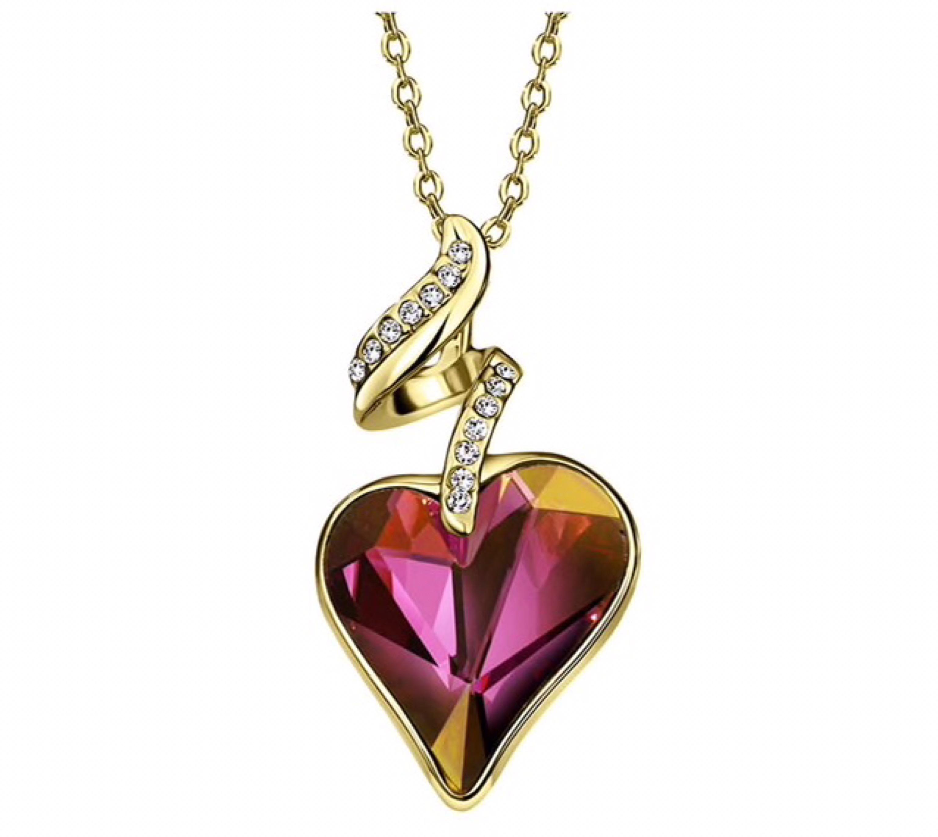 Set náhrdelník a náramok Srdce Swarovski elements vínová  d91cd2cf975